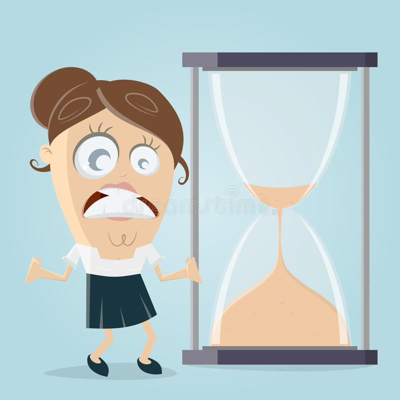 Time is running out hourglass. Clipart vector illustration