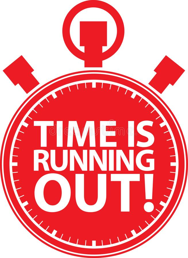 Time is running out stopwatch icon, vector illustration. Time is running out stopwatch icon, vector vector illustration