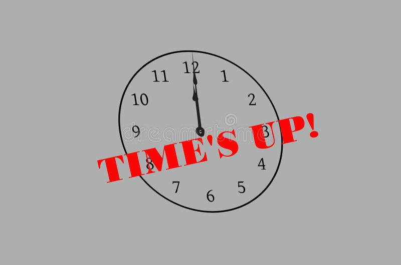 Time`s up sign royalty free illustration