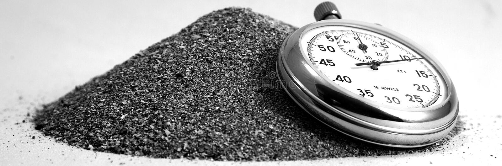 Download Time is sand stock image. Image of finish, number, silver - 16406457