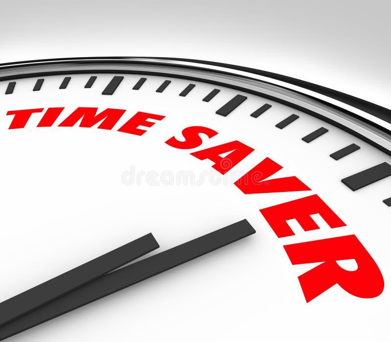 Time Saver Clock Words Efficient Productive Work Advice vector illustration