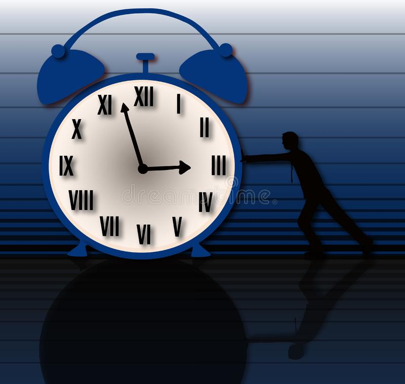 Time is slow and boring royalty free stock image