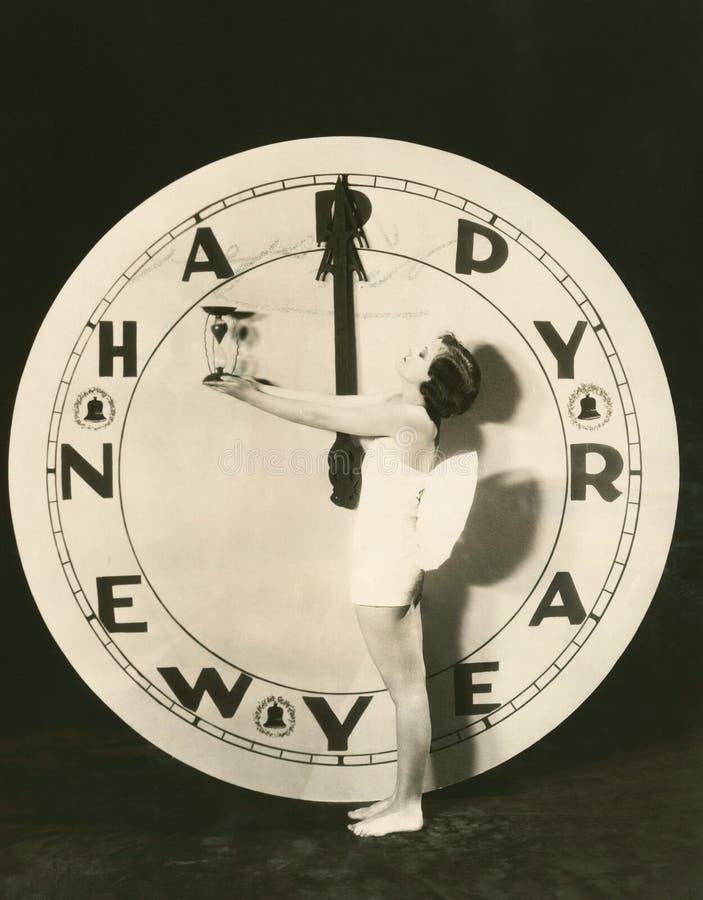 Time som ska startas det nya året royaltyfri fotografi