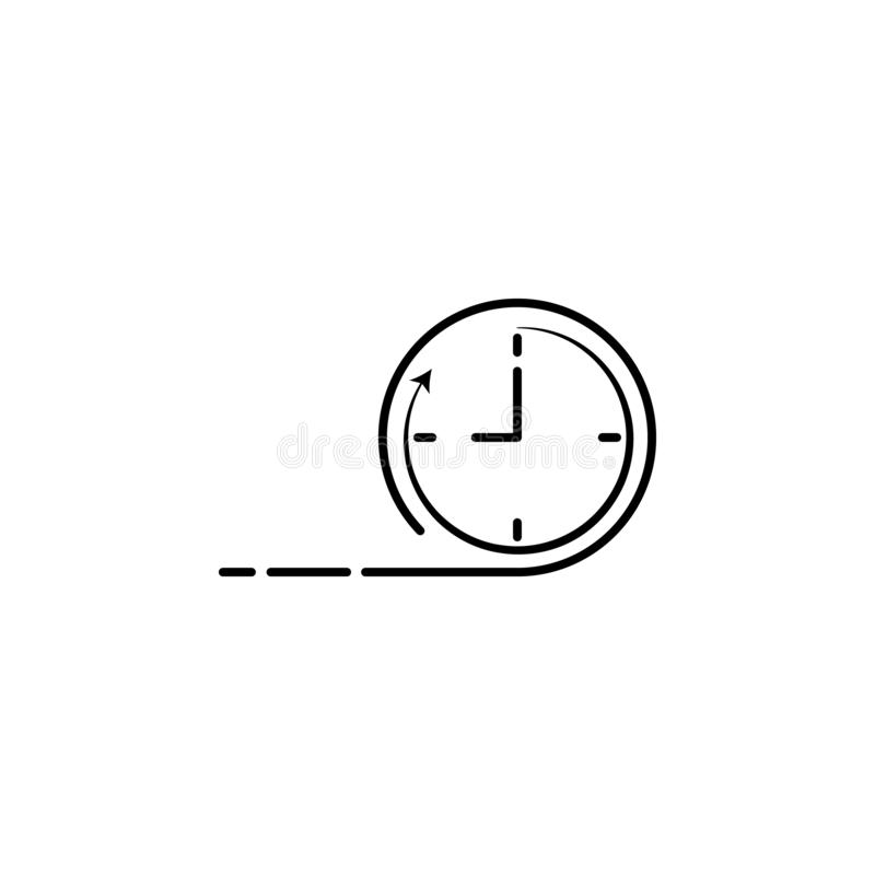 Time speed clock icon. Element of speed icon for mobile concept and web apps. Detailed time speed clock icon can be used for web a. Nd mobile on white background vector illustration