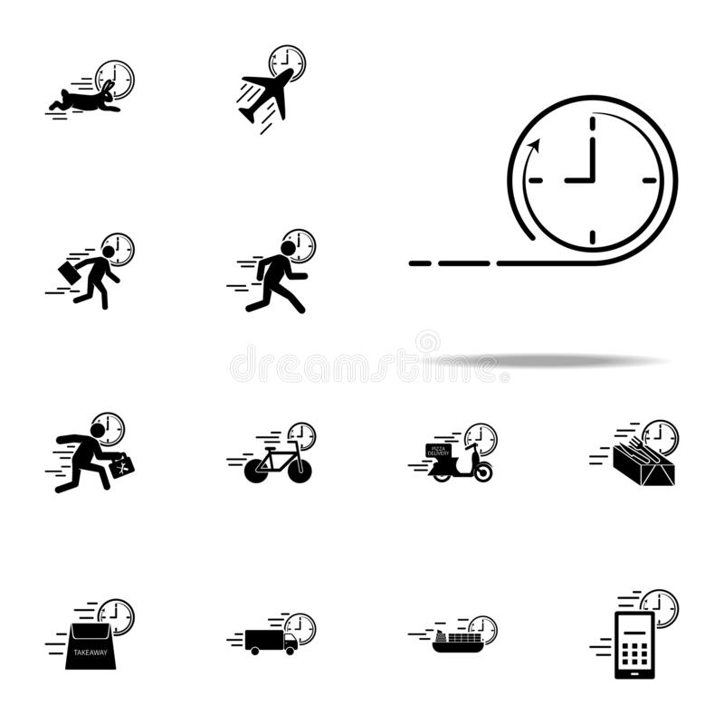 Time speed clock icon. Speed icons universal set for web and mobile. On white background stock illustration