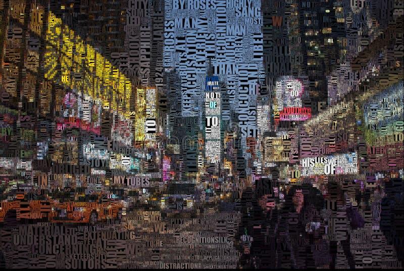 Time Square ilustração royalty free