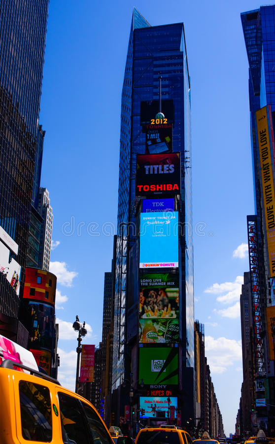 Download Time Square editorial image. Image of banner, life, streets - 25616080