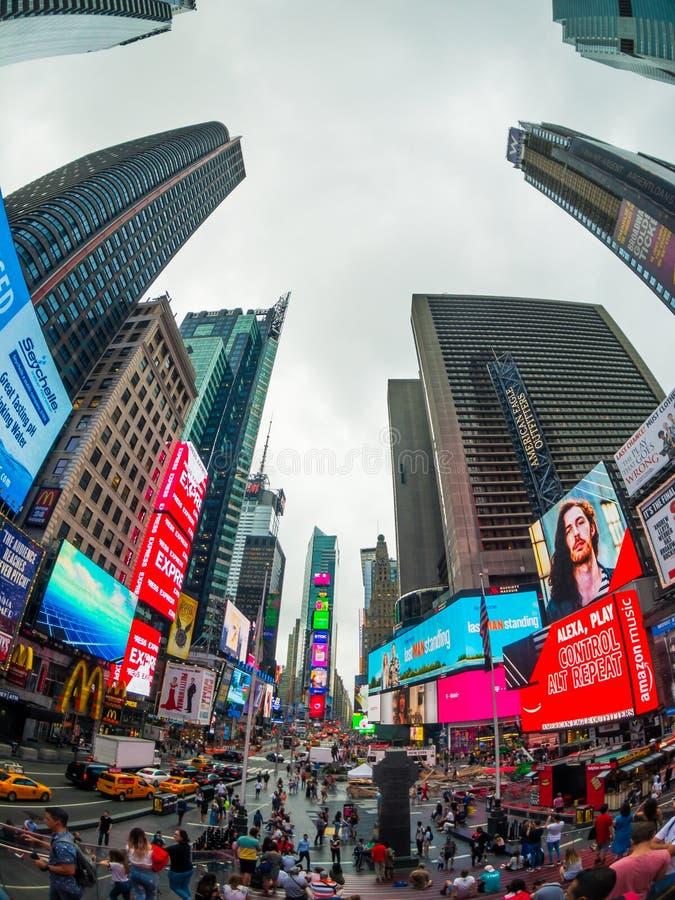 Time Square-cityscape van de dagtijd stock foto