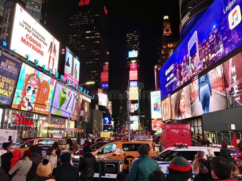 Time Square dans toute sa gloire photographie stock