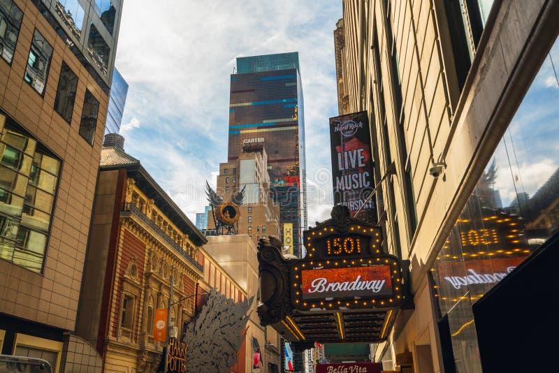Time Square De Bouw van Paramount, 1501 Broadway stock afbeeldingen