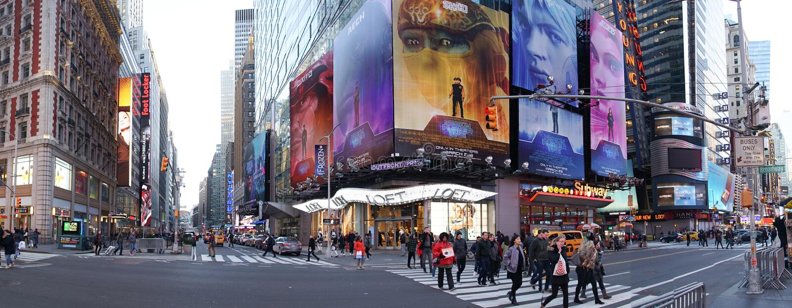 Time Square in Manhattan, New York City. stock photo