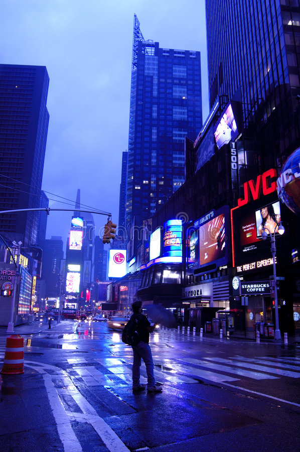 Download Time Square after storm editorial image. Image of night - 4732460