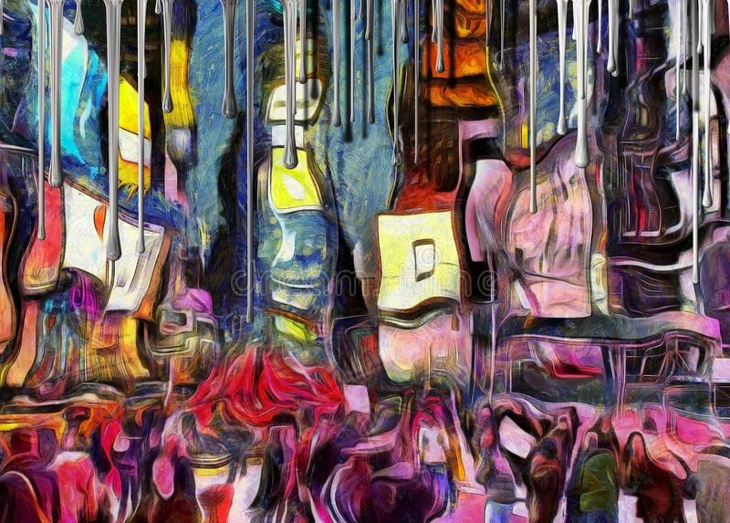 Time Square. Salvador Dali style royalty free illustration
