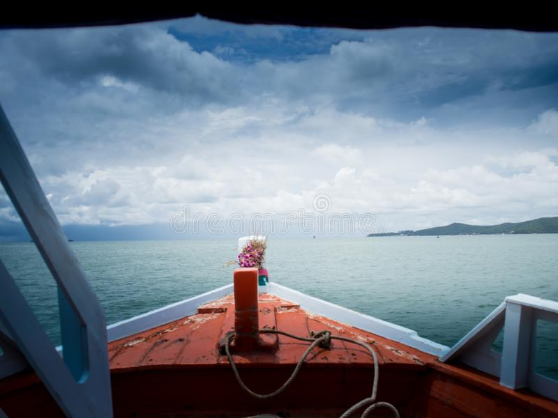 At the time of the storm over the sea. royalty free stock photo