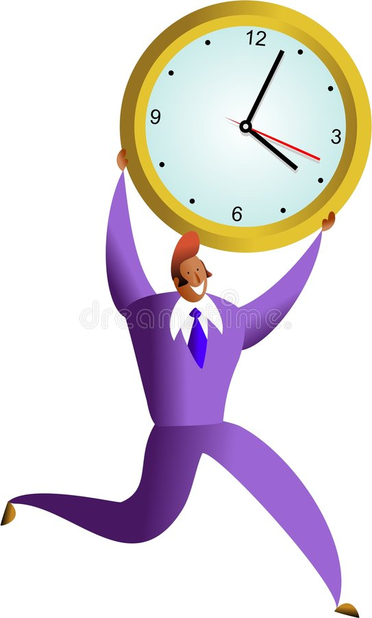 Time success royalty free illustration