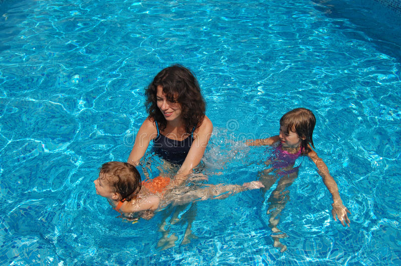 Time for swimmimg royalty free stock images