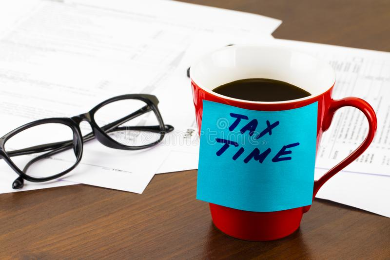 Time for Taxes Money Financial Accounting Taxation Concept royalty free stock photo