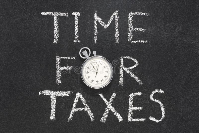 Time for taxes stock photography