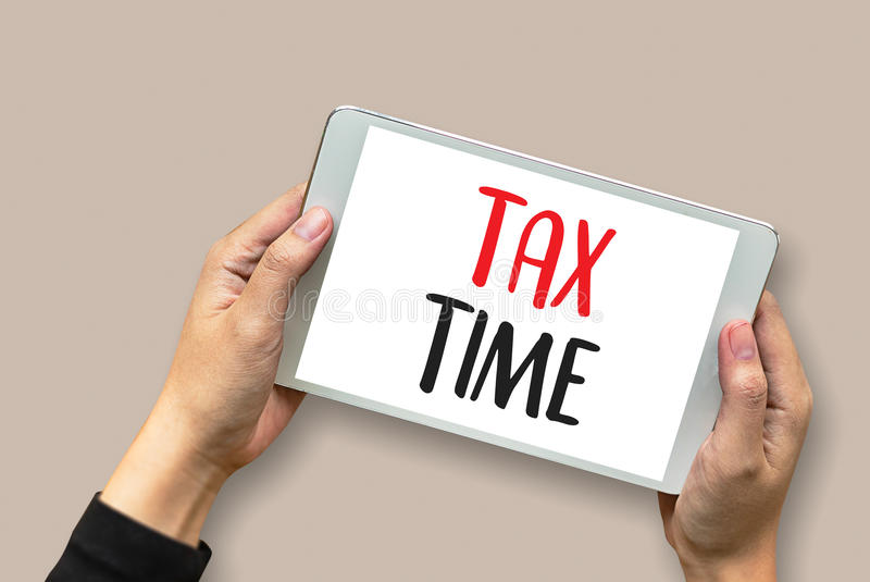 Time for Taxes Planning Money Financial Accounting Taxation Businessman Tax Economy Refund Money stock photos
