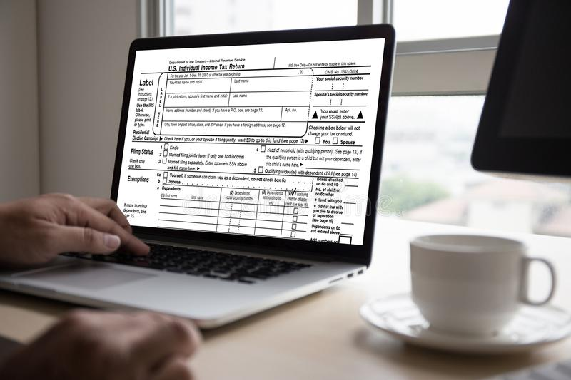 Time for Taxes Planning Money Financial Accounting Taxation Businessman Tax Economy Refund Money royalty free stock image