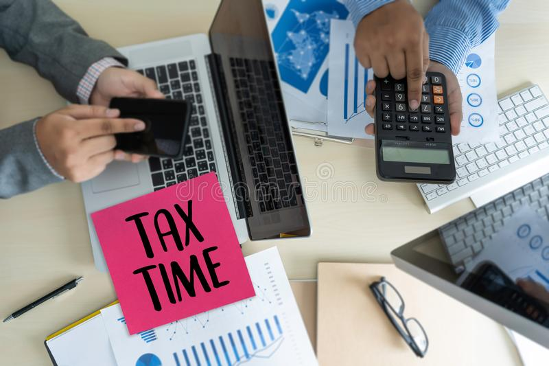Time for Taxes Planning Money Financial Accounting Taxation Busi stock images