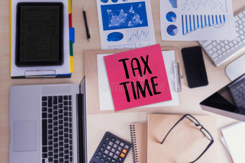 Time for Taxes Planning Money Financial Accounting Taxation Busi royalty free stock image