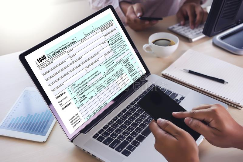 Time for Taxes Planning Money Financial Accounting Taxation Businessman Tax Economy Refund Money. E stock images