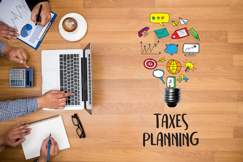 Time for Taxes Planning Money Financial Accounting Taxation and stock photo