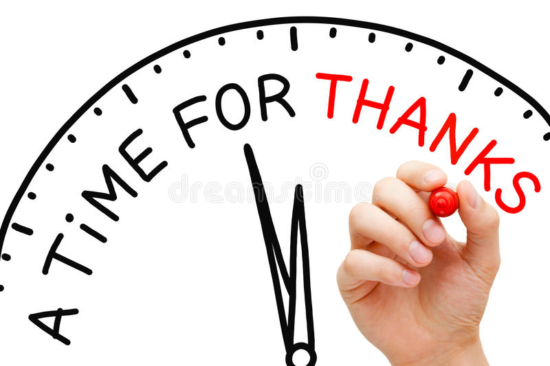 A Time For Thanks stock image