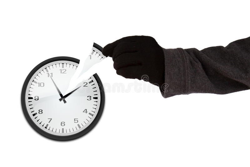 Time thief concept stock photo