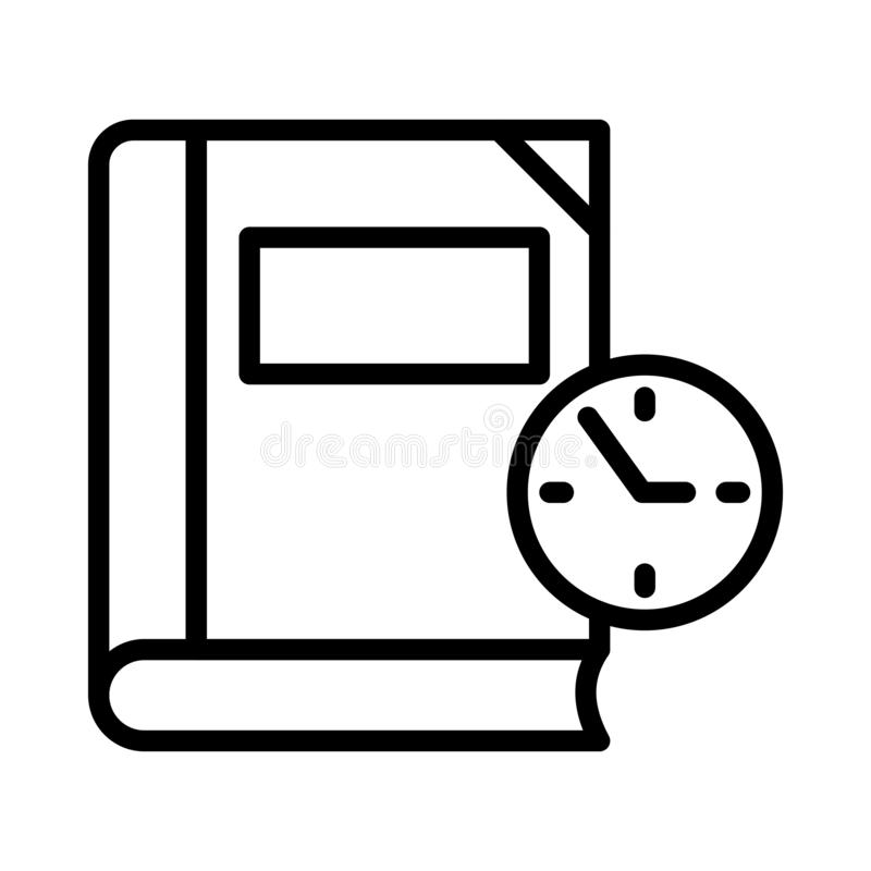 Time thin line vector icon. Time vector icon. Elements for mobile concept and web apps. Thin line icons for website design and development, app development royalty free illustration