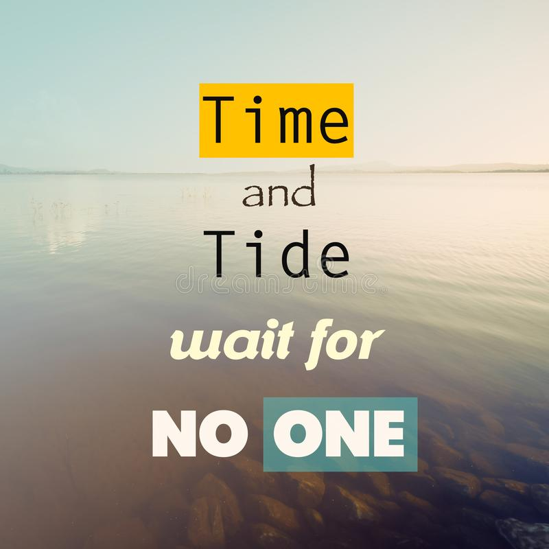 Time and Tide Wait For No One stock illustration