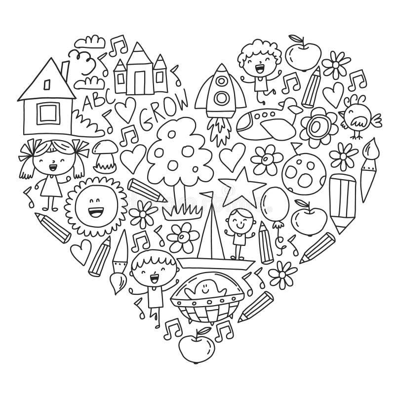 Free Time To Adventure. Imagination Creativity Small Children Play Nursery Kindergarten Preschool School Kids Drawing Doodle Stock Photo - 155335620
