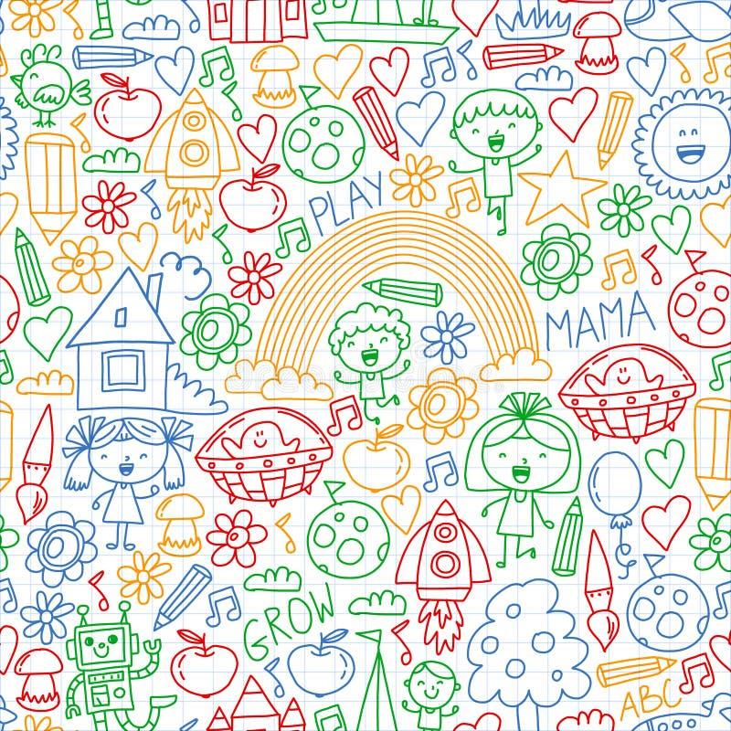 Free Time To Adventure. Imagination Creativity Small Children Play Nursery Kindergarten Preschool School Kids Drawing Doodle Stock Photo - 156232590