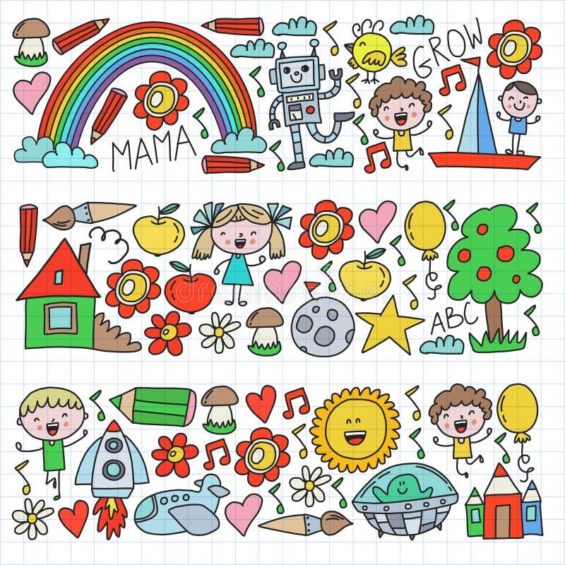 Free Time To Adventure. Imagination Creativity Small Children Play Nursery Kindergarten Preschool School Kids Drawing Doodle Royalty Free Stock Photography - 157316687