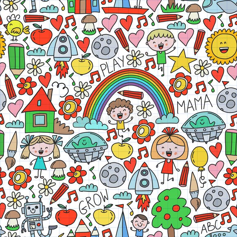 Free Time To Adventure. Imagination Creativity Small Children Play Nursery Kindergarten Preschool School Kids Drawing Doodle Royalty Free Stock Images - 157316699