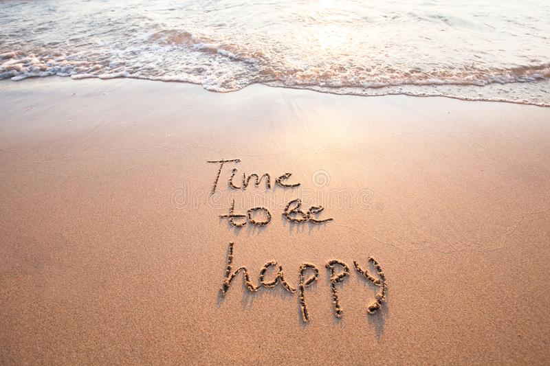 Time to be happy, happiness concept stock image