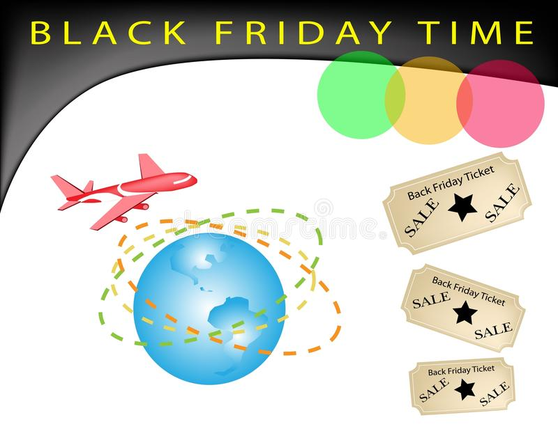 A Time To Black Friday Shopping Promotion Royalty Free Stock Photography