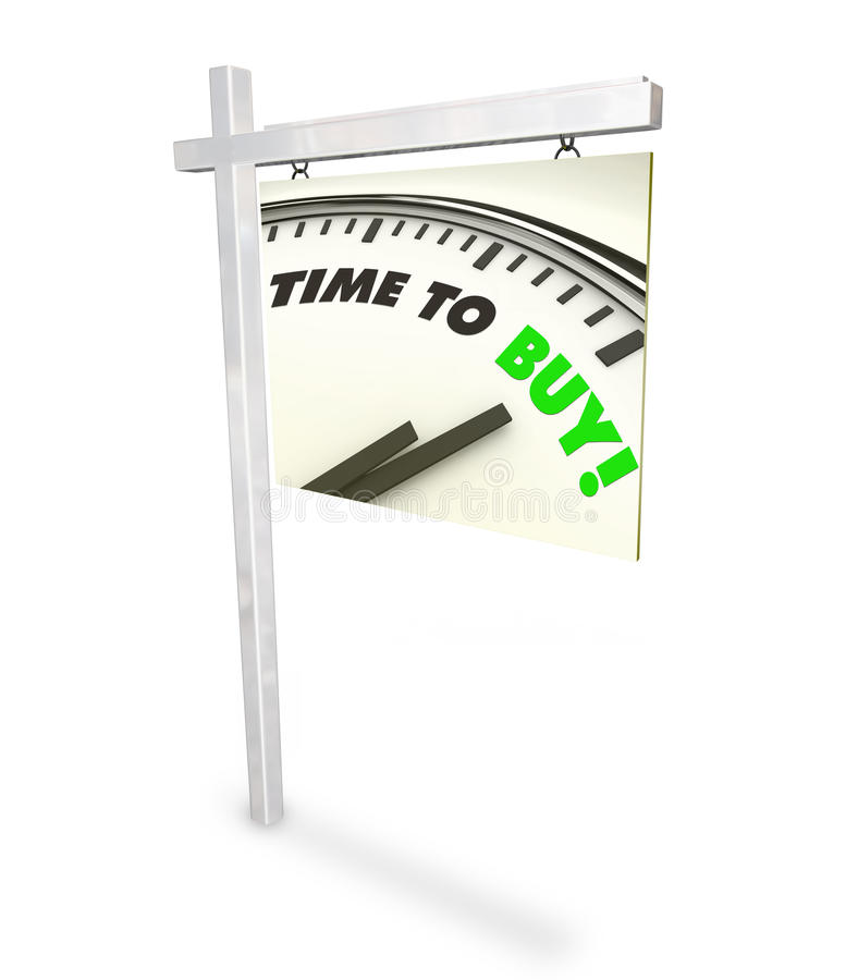 Download Time To Buy Clock - Home For Sale Sign Stock Illustration - Image: 11771375