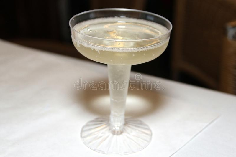 A champage toast for New Year`s Eve. royalty free stock photo