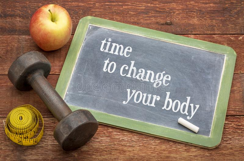 Time to change your body, fitness concept royalty free stock image