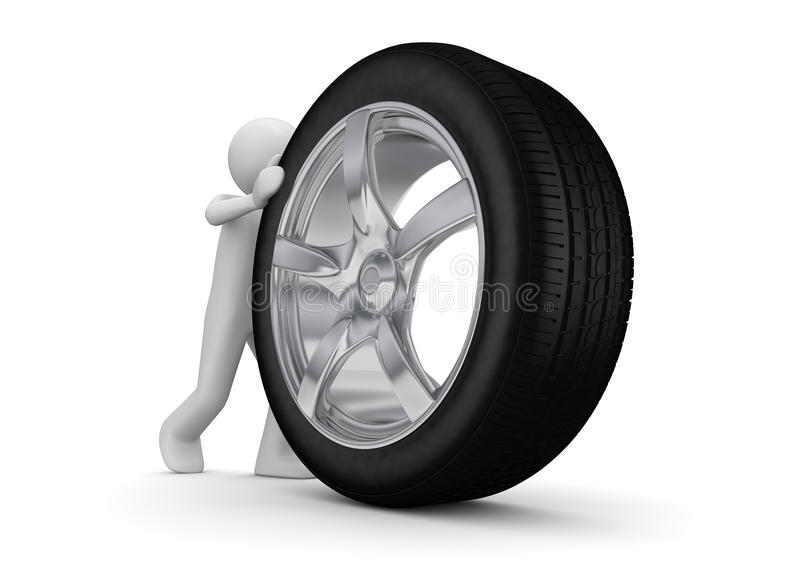 Download Time To Change Your Tyres Royalty Free Stock Images - Image: 13573959