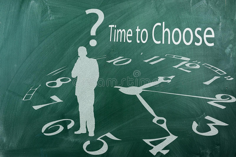 Download Time to choose stock photo. Image of chalk, diagram, achievement - 30296446