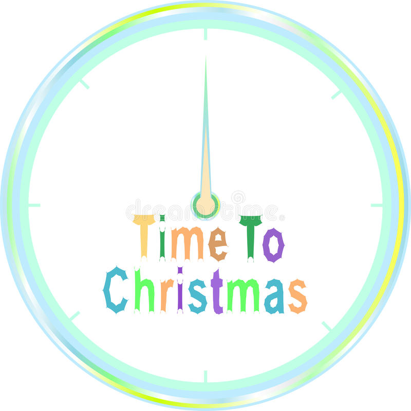 Download Time To Christmas  Clock Isolated On White Stock Illustration - Illustration: 21558920
