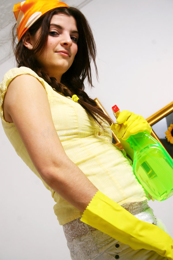 Time to clean stock image