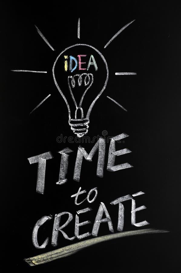 Download Time to create stock photo. Image of blackboard, glow - 22642974