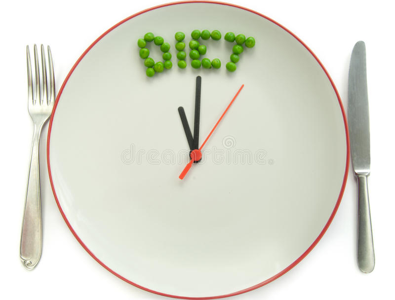 Time to diet royalty free stock image
