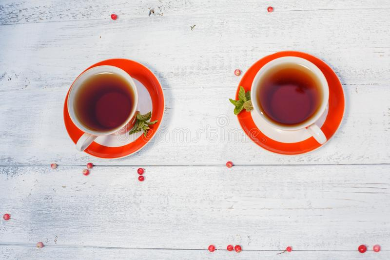 Time to drink tea outdoors in the garden. Summertime scene.  royalty free stock photography