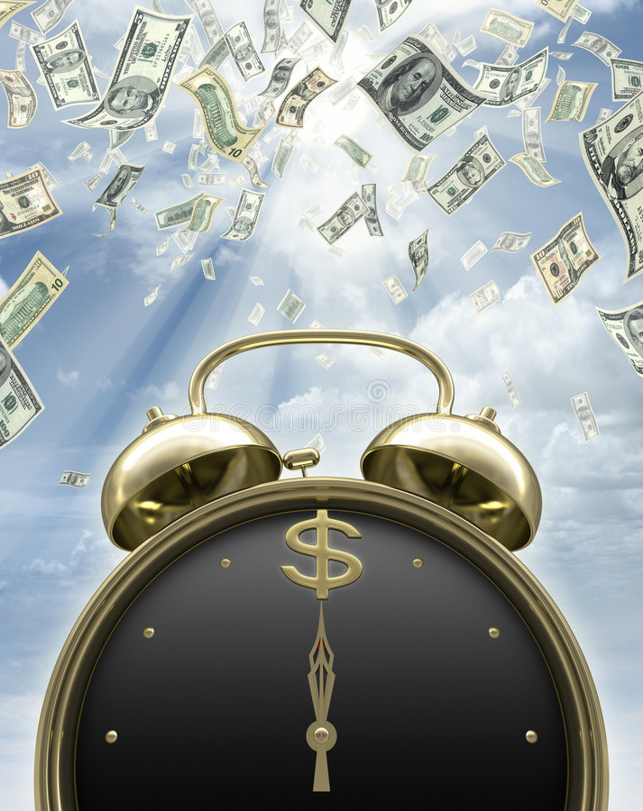 It is time to earn money. Concept of time passing. Time is money