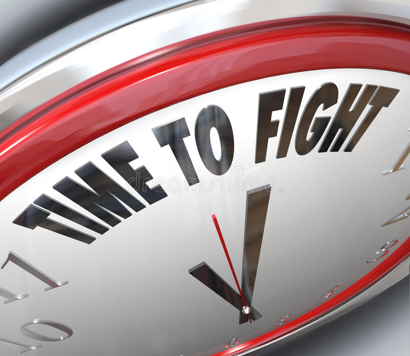 Time to Fight Clock Resistance Fighting for Rights royalty free illustration